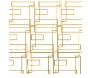 Абстрактный квадрат золота с белой предпосылкой иллюстрация вектора