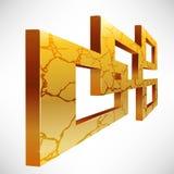 абстрактный квадрат рамок 3d Стоковое Изображение