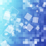 абстрактный квадрат сини предпосылки Стоковое Изображение RF