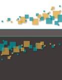 абстрактный квадрат предпосылки Стоковое Фото