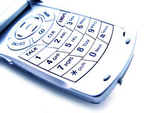 абстрактный клетчатый изолированный телефон Стоковое фото RF