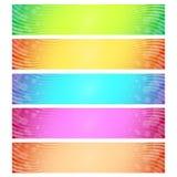 абстрактный комплект знамени Стоковые Изображения RF