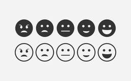 Абстрактный комплект значка emoji обратной связи Стоковые Изображения RF