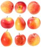 абстрактный комплект красного цвета свежих фруктов Стоковые Фото