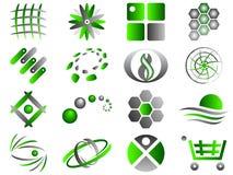 абстрактный комплект логоса иконы конструкции Стоковое Изображение