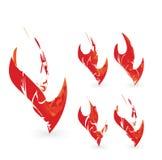 Абстрактный комплект элемента графической конструкции пламени Стоковые Фотографии RF