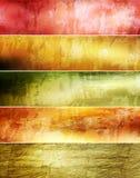 абстрактный комплект grunge знамен Стоковые Фото