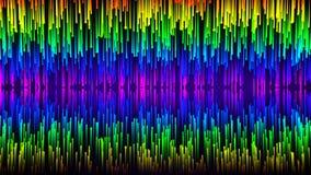 Абстрактный компьютер произвел анимацию падающих звезд падая к центру формируя яркую линию бесплатная иллюстрация