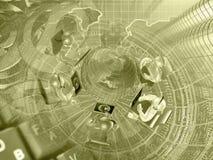 абстрактный компьютер состава предпосылки схематический Стоковое Изображение