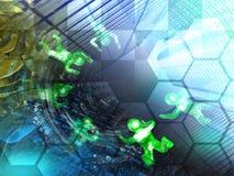 абстрактный компьютер состава предпосылки схематический стоковая фотография