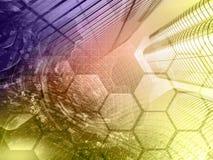 абстрактный компьютер состава предпосылки схематический стоковые фото
