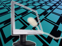 абстрактный компьютер Стоковые Фото