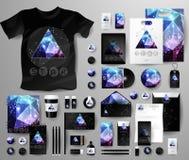 Абстрактный комплект дела Шаблоны фирменного стиля космические Стоковое Изображение