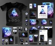 Абстрактный комплект дела Шаблоны фирменного стиля космические Стоковое Изображение RF