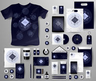Абстрактный комплект дела Шаблоны фирменного стиля космические Стоковая Фотография RF