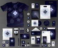 Абстрактный комплект дела Шаблоны фирменного стиля космические Стоковые Фото