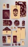Абстрактный комплект дела Шаблоны фирменного стиля Стоковая Фотография RF