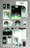 Абстрактный комплект дела Шаблоны фирменного стиля Стоковые Изображения RF