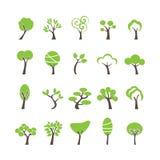 Абстрактный комплект значка дерева, вектор eps10 иллюстрация вектора
