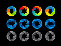 Абстрактный комплект значка цвета иллюстрация вектора