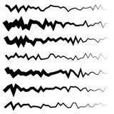 Абстрактный комплект линии сложной формы Различное волнистое, рассекатели зигзага, li бесплатная иллюстрация