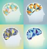 Абстрактный комплект мозговой деятельности бесплатная иллюстрация