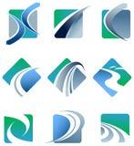 Абстрактный комплект логотипа следа Стоковые Изображения RF
