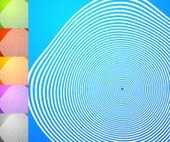 Абстрактный комплект предпосылки Квадратные предпосылки формата с geometri Стоковые Фотографии RF