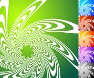 Абстрактный комплект предпосылки Квадратные предпосылки формата с geometri Стоковые Изображения RF