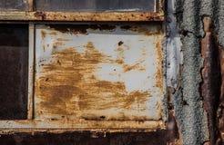 Абстрактный конец-вверх ржавой промышленной стены Стоковые Изображения