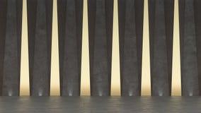 абстрактный конкретный выставочный зал 3d самомоднейшее конструкции геометрическое Белая предпосылка пола и стены иллюстрация штока