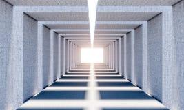 Абстрактный конкретный тоннель Стоковое Изображение