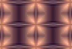 абстрактный коричневый цвет предпосылки Checkered картина от квадрата пиксела картины иллюстрации семьи искусства вектор цифровог Стоковое Изображение RF