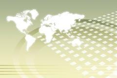 абстрактный корпоративный рост всемирно иллюстрация вектора