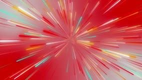 Абстрактный космический, футуристический тоннель, гипер скачка в галактику, неон накаляя, 3d скорости света представляет иллюстрация вектора