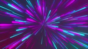 Абстрактный космический, футуристический тоннель, гипер скачка в галактику, неон накаляя, 3d скорости света представляет бесплатная иллюстрация