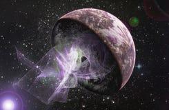 абстрактный космос аварии иллюстрация вектора