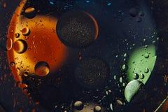 абстрактный космос предпосылки Падения воды других цветов Стоковые Изображения RF