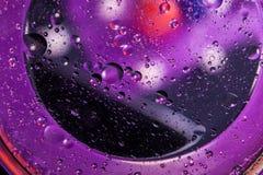 абстрактный космос предпосылки Падения воды других цветов Стоковая Фотография RF