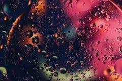 абстрактный космос предпосылки Падения воды других цветов Стоковая Фотография