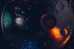 абстрактный космос предпосылки Падения воды других цветов Стоковые Фото