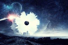 абстрактный космос предпосылки Стоковые Фотографии RF