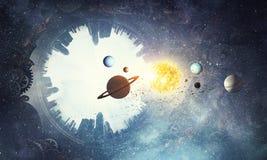 абстрактный космос предпосылки Стоковые Изображения