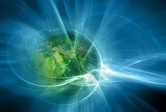 абстрактный космос предпосылки Стоковая Фотография RF