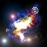 абстрактный космос предпосылки стоковое изображение