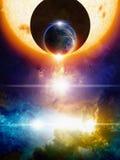 абстрактный космос предпосылки Стоковое Изображение RF