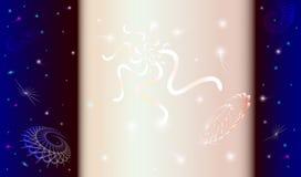 абстрактный космос предпосылки Стоковая Фотография