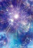 абстрактный космос сини предпосылки Стоковая Фотография