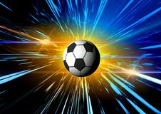 абстрактный космос футбола Стоковая Фотография
