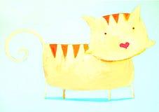 абстрактный кот Стоковое Фото
